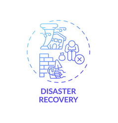 Disaster recovery concept icon vector