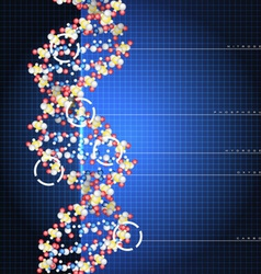 Dna double helix vector image