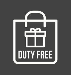 Duty free luggage vector