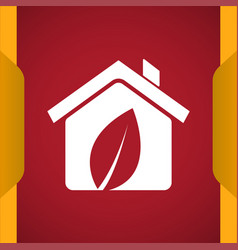 Eco house icon for web and mobile vector