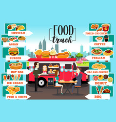 food trucks infographics vector image