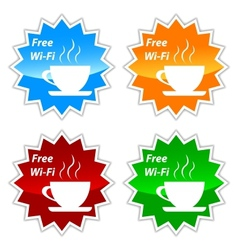 Free wi-fi labels vector image