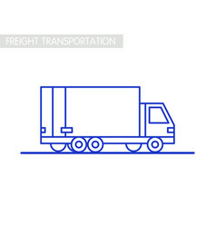 Freight transportation concept delivery service vector
