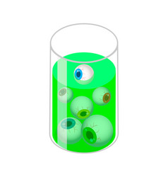 glass with eyes icon isometric style vector image