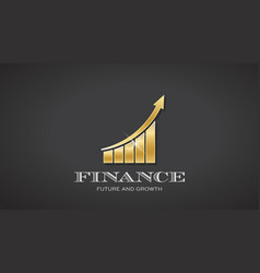 gold business finance bar vector image