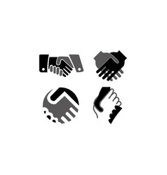 Handshake friendship partnership minimalistic fla vector