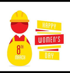 happy womens day women working as engineer design vector image