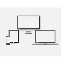 High quality set of modern technology devices - vector