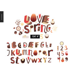 kids flat alphabet set vector image