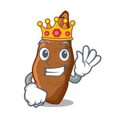 King fresh cassava isolated on the mascot vector