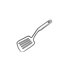 kitchen spatula hand drawn sketch icon vector image