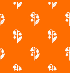 lily valley pattern orange vector image