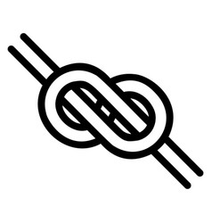 Logo is a knotted knot in form an infinity vector