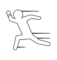 man running draw vector image