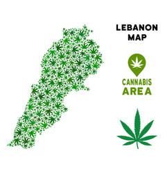 Marijuana mosaic lebanon map vector