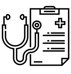 Medical checkup line vector