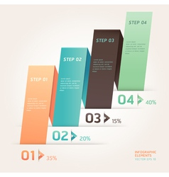 Modern origami style step up options banner vector image