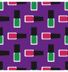 Nail polish seamless pattern 3 vector image