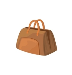 Open Leather Female Purse Item From Baggage Bag vector image