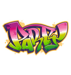 Party word in graffiti style vector