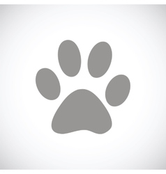 Paw black icon vector
