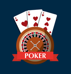 poker roulette cards gambling risk banner vector image