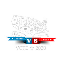 presidential elections in united states vector image