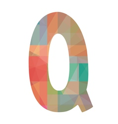 Q alphabet2 vector image
