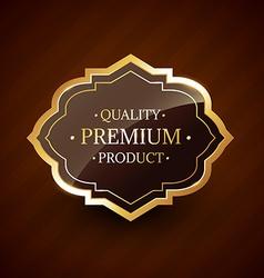 Quality premium product design golden label badge vector