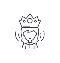 queen line icon concept queen linear vector image