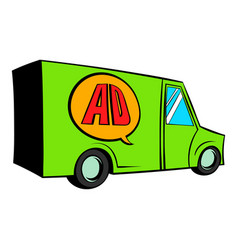 Sign for advertising on a truck icon cartoon vector