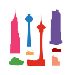 silhouettes of high-rise skyscrapers vector image