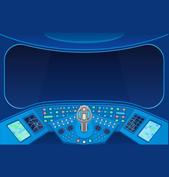 Spaceship cabin interior and view empty window vector