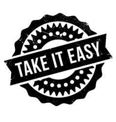 Take It Easy stamp vector