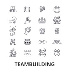 teambuilding community teamwork leadership vector image