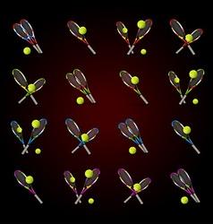 Tennis symbols as design elements tennis balls vector