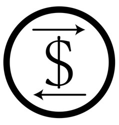 Transfer money icon vector