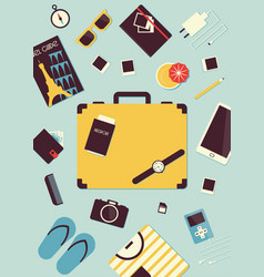 Travel luggage poster vector