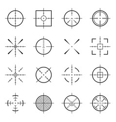 Unusual bullseye accurate focus symbols vector