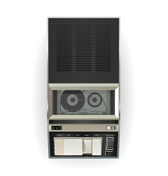 Vintage cassette tape player vector