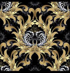 vintage royal seamless pattern gold baroque vector image
