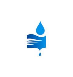 water drop blue logo vector image vector image