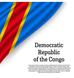 waving flag of democratic republic of the congo vector image