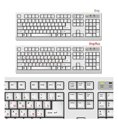 White Computer keyboards vector image