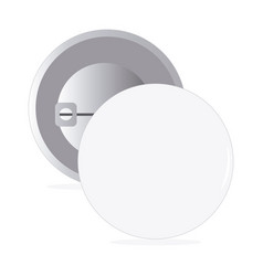 white round pin vector image vector image