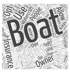 Winter boat insurance Word Cloud Concept vector
