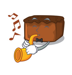 with trumpet brownies mascot cartoon style vector image