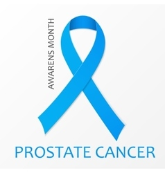 World Prostate Cancer Day poster Blue ribbon vector