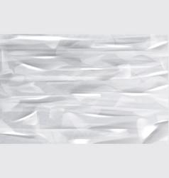 wrinkled paper texture folded sheet background vector image