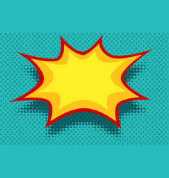Yellow comic book background explosion bubble vector